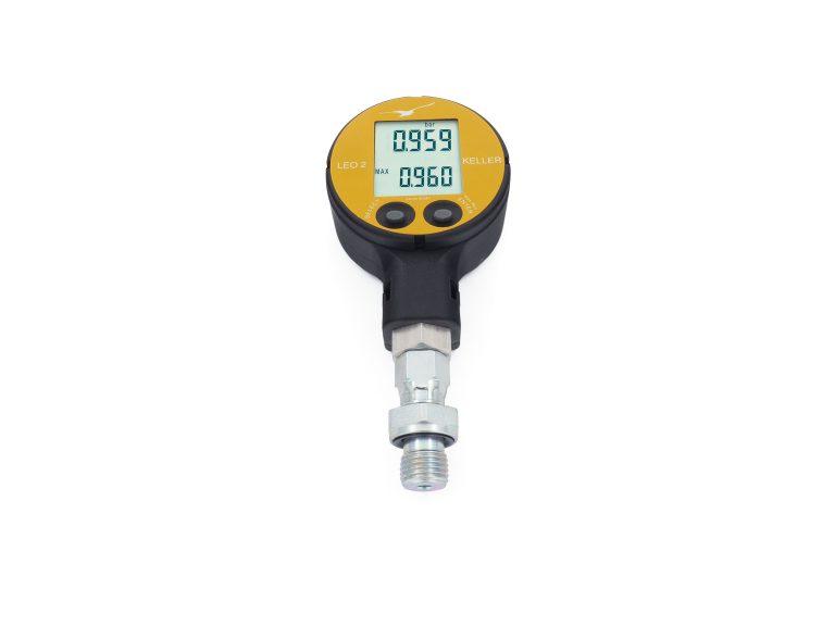 Billedet viser det digitale LEO 2 manometer